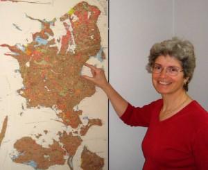 Susan Stipp udpeger et område med nikkel problemer. Foto Steen Laursen