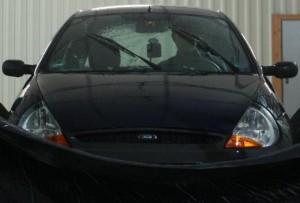 Biler kan bruges som regnmålere. Foto: Daniel Fitzner