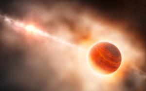 Stjerner ser ud til at blive født i en eksplosion. Grafik: ESO/L. Calçada