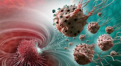 Med en hær af kræftdræbende nano-zombi-robotter  satser forskerne nu på at have forbedret behandlingen med kemiterapi. Grafik: Montréal Nanorobotics Laboratory