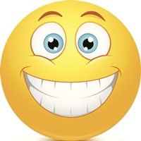 Glad smiley i en arbejdsmail