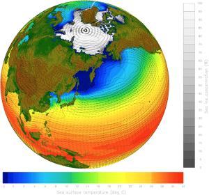 Klimamodeller er notorisk svære at opbygge, og det kræver enorme mængder forskning at justere dem, så de forudser fremtiden. Men de er afgørende for vores fremtid. Grafik: The National Center for Atmospheric Research