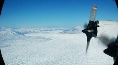 Grønland vokser når indlandsisen smelter